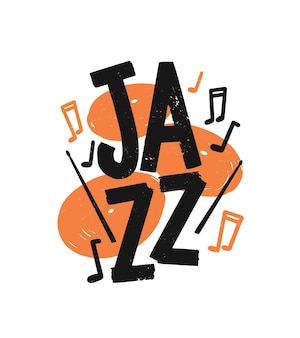 Lettrage de jazz dessinés à la main