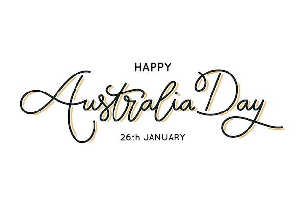 Lettrage de jour de l'australie