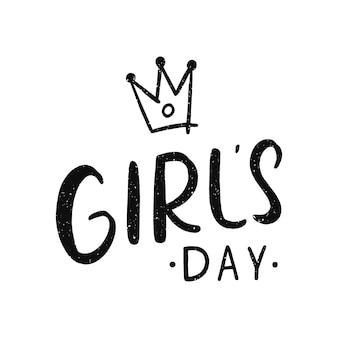 Lettrage de jour de filles