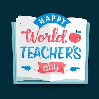 Lettrage de la journée des enseignants heureux