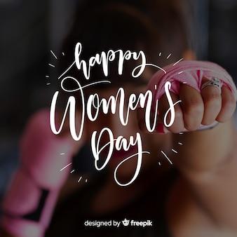 Lettrage de la journée des femmes
