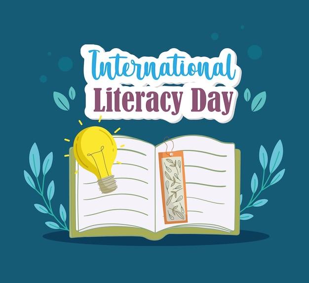 Lettrage de la journée internationale de l'alphabétisation