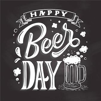 Lettrage de la journée internationale de la bière