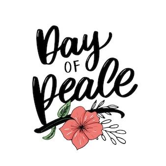 Lettrage de la journée internationale de la paix