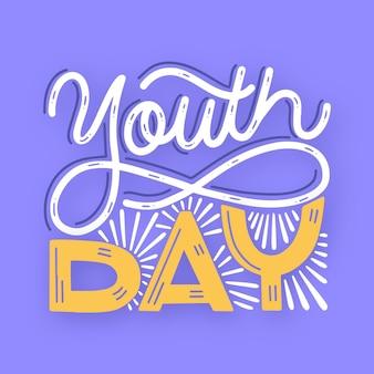 Lettrage de la journée de la jeunesse