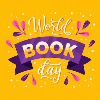 Lettrage de la journée mondiale du livre