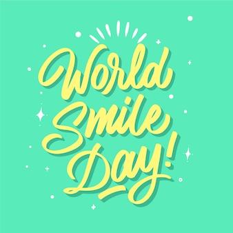 Lettrage de la journée mondiale du sourire