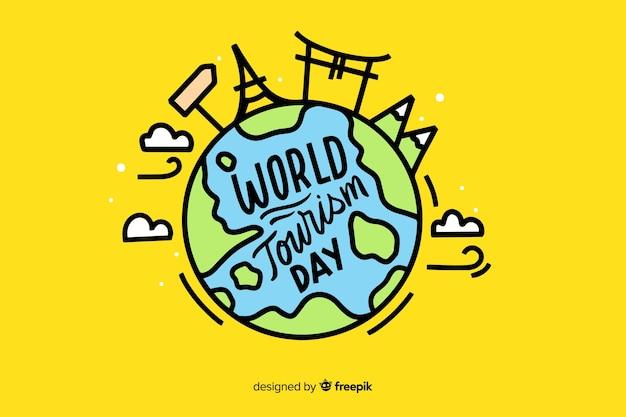 Lettrage de la journée mondiale du tourisme