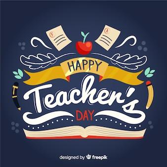 Lettrage de la journée mondiale des enseignants
