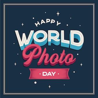 Lettrage de la journée mondiale de la photographie