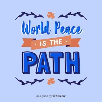 Lettrage de la journée de la paix internationale