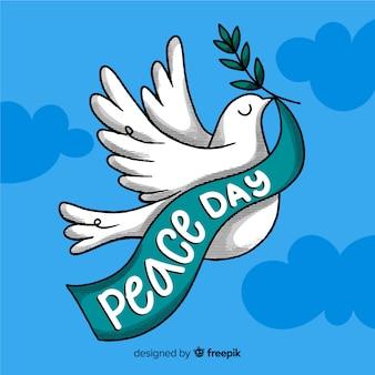 Lettrage de la journée de la paix