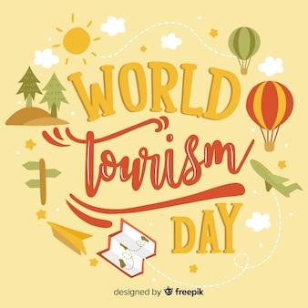 Lettrage de la journée touristique mondiale