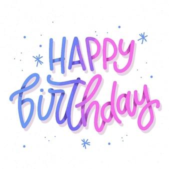 Lettrage joyeux anniversaire brillant