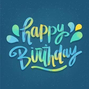 Lettrage joyeux anniversaire coloré