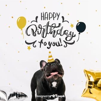Lettrage joyeux anniversaire avec photo