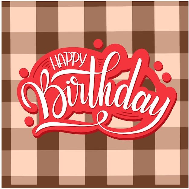 Lettrage de joyeux anniversaire. texte de vacances et décorations. carte de voeux et affiche
