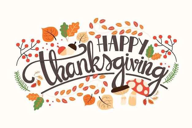 Lettrage de joyeux thanksgiving
