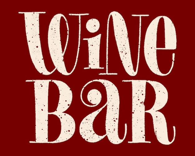 Lettrage de main de bar à vin