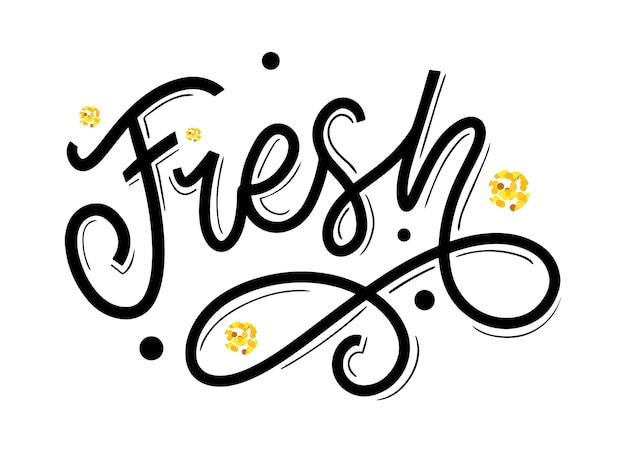 Lettrage à la main de mot frais. slogan écologique de calligraphie à la main