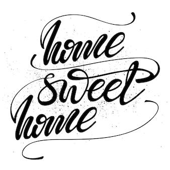 Lettrage maison douce maison. illustration vectorielle