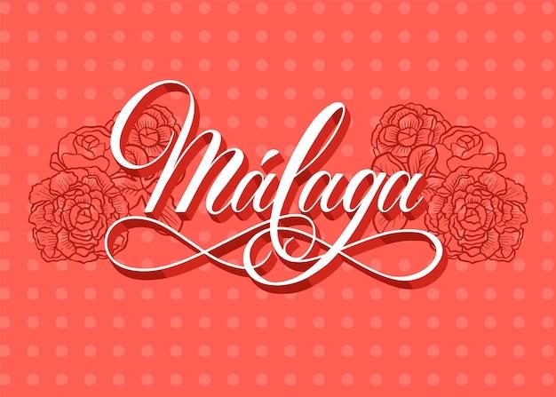 Lettrage de malaga dessiné à la main