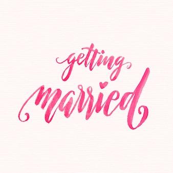 Lettrage de mariage aquarelle