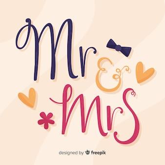 Lettrage de mariage