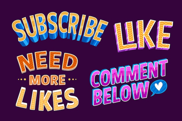 Lettrage de médias sociaux