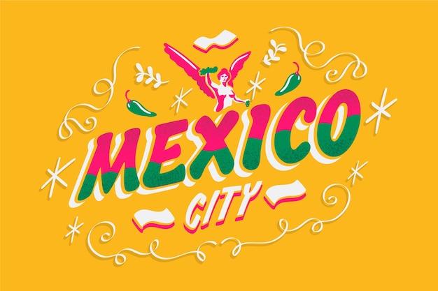 Lettrage de mexico