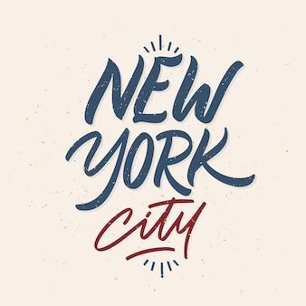 Lettrage moderne de la ville de new york