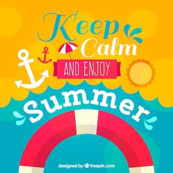 Lettrage de motivation avec éléments d'été