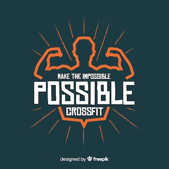 Lettrage motivationnel: rendre l'impossible possible. crossfit
