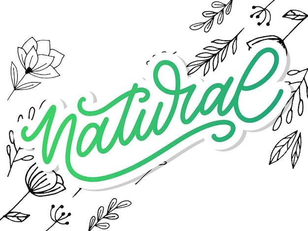 Lettrage naturel