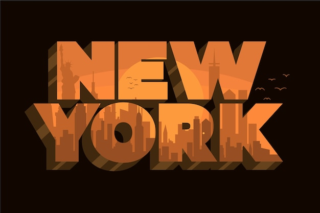 Lettrage de new york