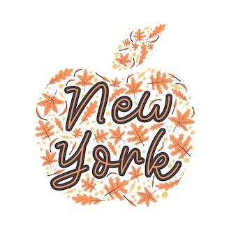 Lettrage de new york