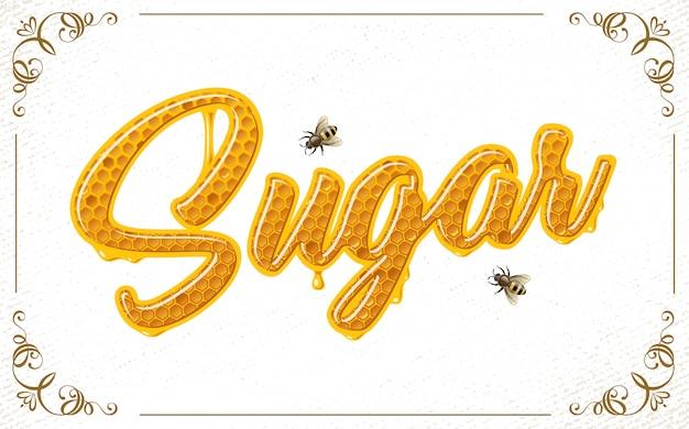 Lettrage avec nid d'abeille