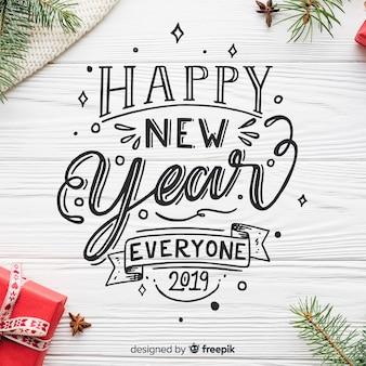 Lettrage nouvel an 2019