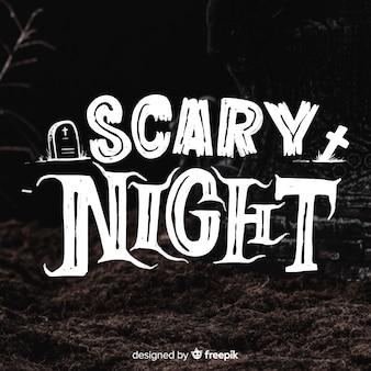 Lettrage de nuit effrayant noir