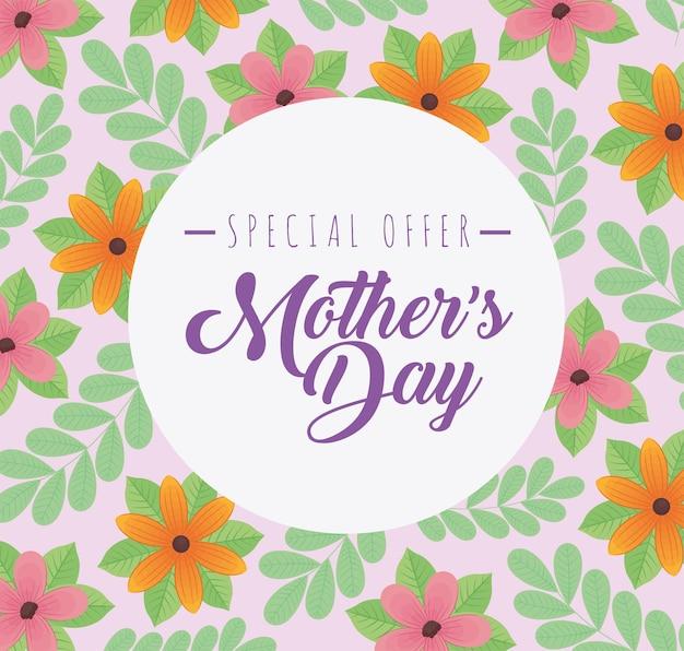 Lettrage de l'offre spéciale de la fête des mères