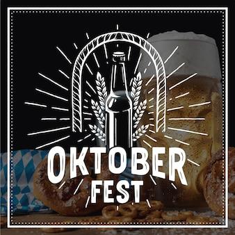 Lettrage oktoberfest dessiné à la main sur photo