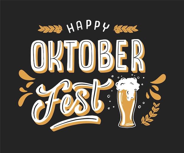 Lettrage d'oktoberfest dessiné à la main