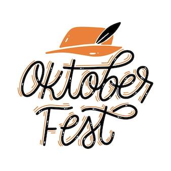 Lettrage d'oktoberfest