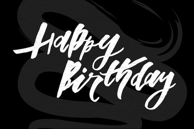 Lettrage avec phrase joyeux anniversaire