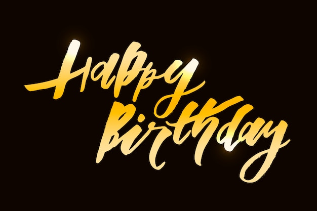 Lettrage avec phrase joyeux anniversaire.