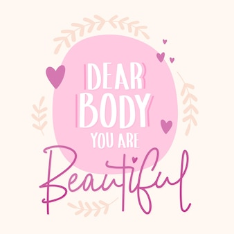 Lettrage positif du corps