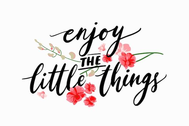 Lettrage positif avec des fleurs