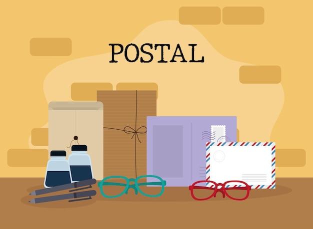 Lettrage postal et accessoires