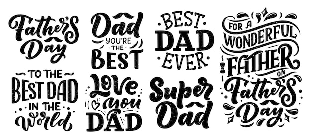 Lettrage pour carte de voeux fête des pères