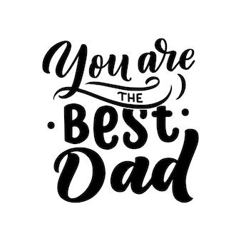 Lettrage pour la fête des pères
